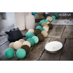 10 kul PepperMint Chocolate Cotton Ball Lights