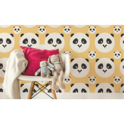 TAPETA PANDA KIDS COLOR BANANA