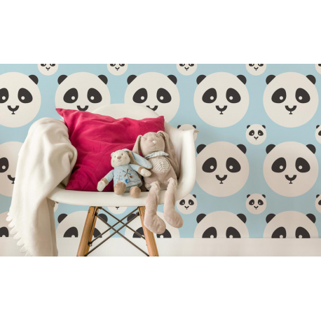 TAPETA PANDA KIDS COLOR BABY BLUE