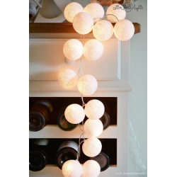 Girlanda 10 kul PURE WHITE Cotton Ball Lights