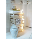 Girlanda 10 kul WHITE GLOW Cotton Ball Lights