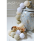 Girlanda 50 kul WHITE GLOW Cotton Ball Lights