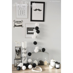 Girlanda 35 kul BLACK&WHITE Cotton Ball Lights