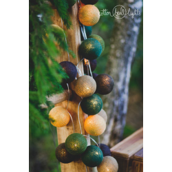 10 kul Woodland Treasures Cotton Ball Lights